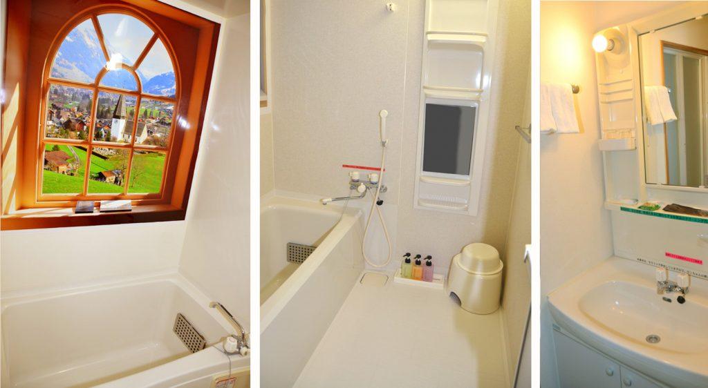 バスルームと洗面台