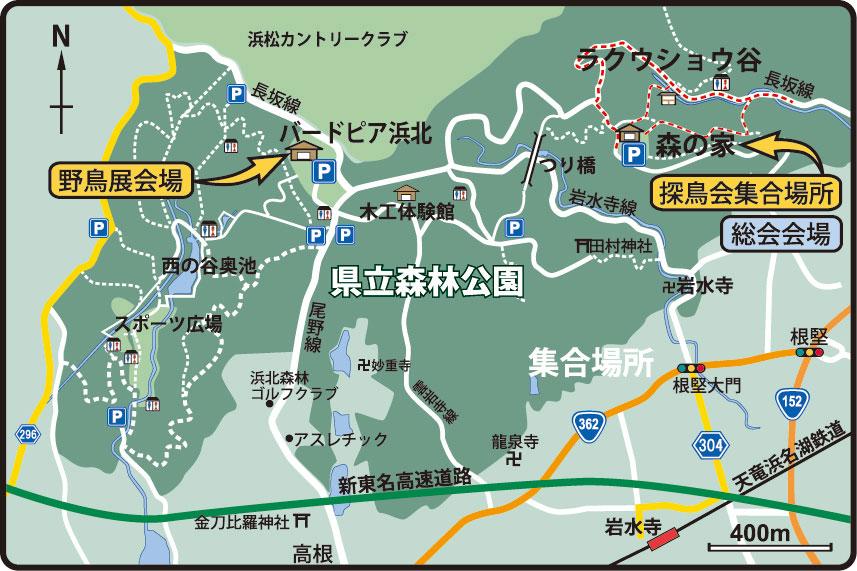 県立森林公園の地図